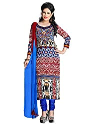 Multi Color Cotton Printed Unstitched Dress Material