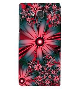 ColourCraft Flowers Design Back Case Cover for XIAOMI REDMI 2S