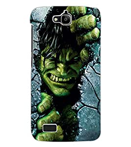 ColourCraft Incredible Warrior Design Back Case Cover for HUAWEI HONOR HOLLY