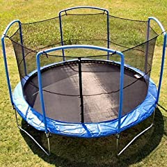 Buy 15 ft. (Frame Size) Round Replacement Trampoline Net for 4 Arch Enclosure System (JumpKing FunRing Bazoongi) by JumpKing