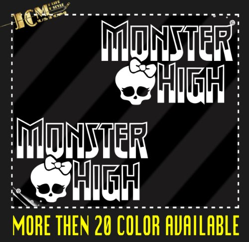 Set of 2 - Monster High Vinyl Decal Sticker / 6