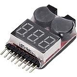 fitTek 1-8s Spannung Lipo Akku Alarm Checker Schutz Anzeiger