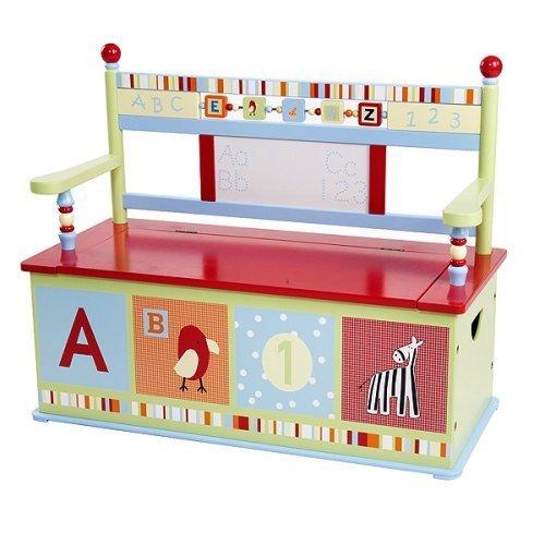 Alphabet Soup Toy Box Bench