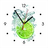 reloj de pared - limón - reloj de cocina