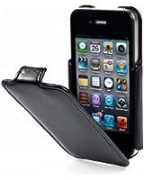 Housse SlimCase StilGut, pochette exclusive pour l'iPhone 4 et 4s d'Apple, avec clapet, Noir