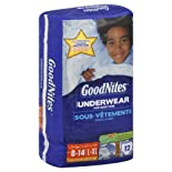 GoodNites Underwear, Boys, L-XL (60-125+ lbs), Jumbo, 12 ct.