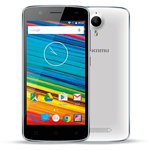 Komu-Color-4G-Bianco-LTE-Smartphone-Quadcore-Dual-Sim-Google-Android-51-Lollipop-Marchio-Italiano