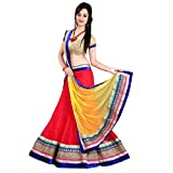 Aahira Red Net Semi Stiched Fancy Lahenga Choli Material