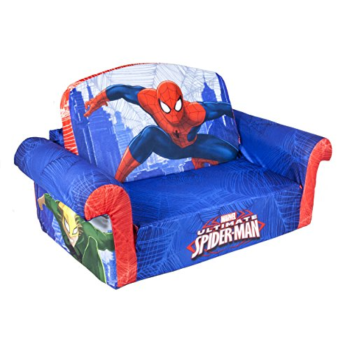 Superheroes Spiderman Flip Chairs Sofa Bed Home Kids Furniture Soft Plush  Lounge