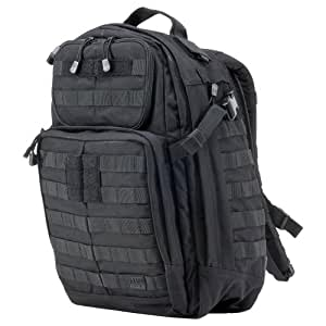 5.11 1 Day Rush Backpack, Black, 1 Size