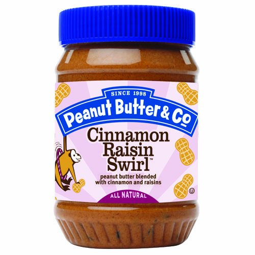 Peanut Butter & Co. Peanut Butter, Cinnamon Raisin Swirl, 16-Ounce Jars (Pack of 6)