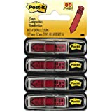 "Post-it Message Flags, ""Sign Here"", Red, 1/2-Inch Wide, 20/Dispenser, 4-Dispensers/Pack"