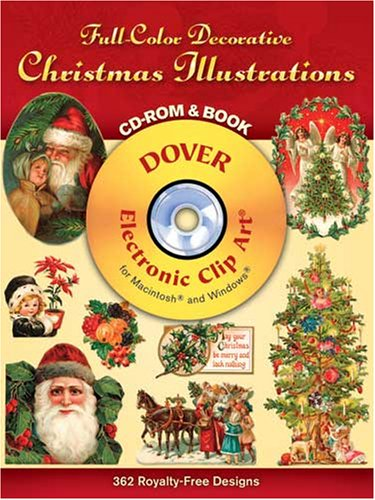 Full-Color Decorative Christmas Illustrations CD-ROM and Book (Dover Full-Color Electronic Design)