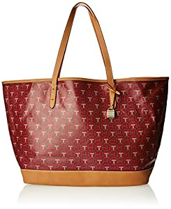 Tommy Hilfiger Monogram Coated Logo Canvas WP Trim Shoulder Bag,Red/Multi,One Size