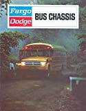 1972 Dodge Fargo School Bus Sales Brochure Canada