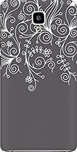 AMEZ designer printed 3d premium high quality back case cover for Xiaomi Mi4 (grey white design pattern abstract)