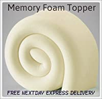 2ft6 3ft 4ft Small 4ft6 5ft And 6ft Memory Foam Toppers Available In 2'' 3'' And 4'' (2'' 4ft Small Double Memory Foam Topper) from bedzonline