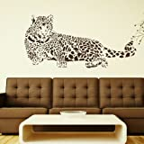 Leopard Interior Wall Transfer / Removable Vinyl Decal / Home Art Sticker CA4