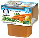 Gerber 2nd Foods Mixed Vegetables, 2-Count, 3.5-Ounce Tubs (Pack of 8)
