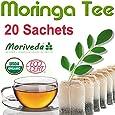 20 Beutel Moringa Kräute Tee - garantierte Oleifera Rohkostqualität (1x20 Dips)