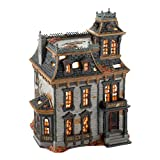 Snow Village Mordecai Mansion Lit House Halloween Decor