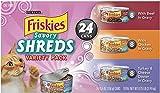 Friskies Savory Shreds Cat Food Variety Pack, 8.25-Pound