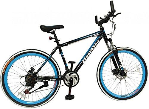26' Zoll Hardtail Mountainbike MTB Fahrrad Python von 2Fast4You, Farben:schwarz-blau