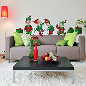 christmas elves decal kit home decor wall