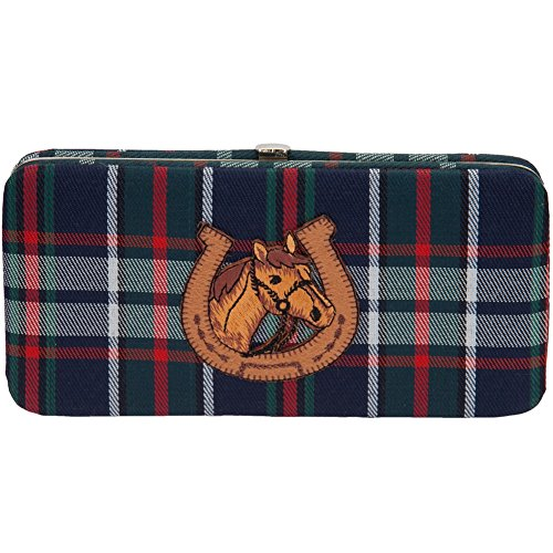 Horse In Shoe Plaid Clasp Wallet image
