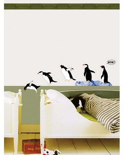 Ambiance Live Vinilo Adhesivo De Una Familia De Pingüinos