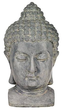 Buddha Head Cast Resin Outdoor Statue