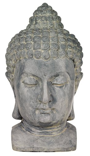 Buddha Head Cast Resin 18 1/2