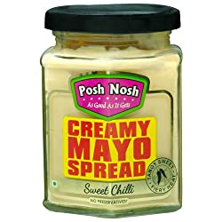 Posh Nosh Eggless Mayonnaise 235g (Sweet Chilli Flavour) (Veg + No Preservatives)