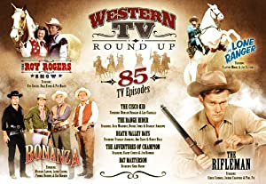 Western TV Round Up 85 TV Episodes DVD Set - The Roy Rogers Shows, The Cisco Kid, Death Valley Days, The Adventures of Champion, Rat Mesterson, The Rifleman, The Lone Ranger, Bonanza by Mill Creek Entertainment