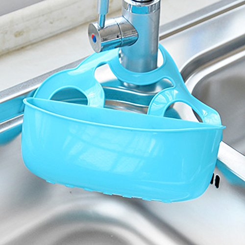 KAKA(TM) Kitchenware Sponge Dish Towel Hang Drain Storage Bucket Box with Press button Style for Kitchen Bathroom Multi-purpose Shelving - Large (Partition Frying Pan compare prices)