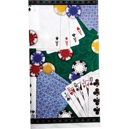 Poker Party 54in x 102in Paper Tablecover