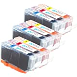 3 Compatible C/M/Y Sets of 3 Canon CLI-526 Colour Printer Ink Cartridges (9 Inks) - Cyan / Magenta / Yellow for Canon Pixma iP4850, iP4950, iX6550, MG5150, MG5250, MG5320, MG5350, MG6150, MG6220, MG6250, MG8150, MG8170, MG8220, MG8250, MX885
