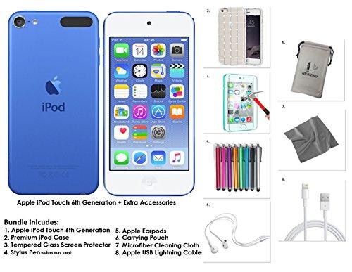 Apple iPod Touch 16 Go - Bleu + Accessoires supplémentaires 6ème génération **Nouveau Modèle Juillet 2015**