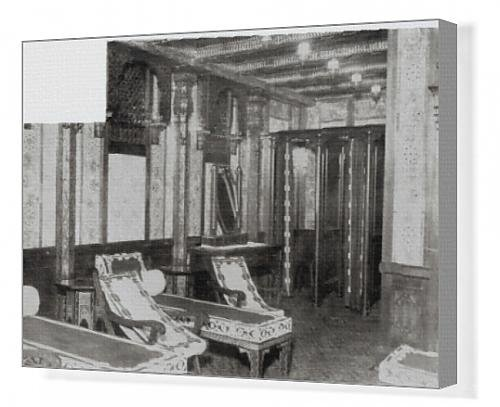 Canvas Print of The Turkish Bath Cooling Room on board the Titanic