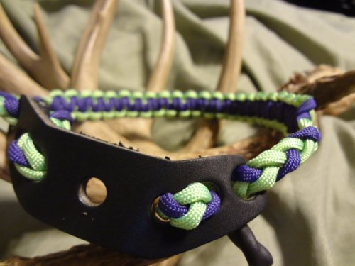 Purple & Neon Green Paracord Bow Wrist Sling By Bostonred2010
