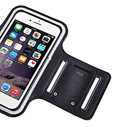 Universal Mobile Arm Band for Keeping Smartphones in Running Jogging & Gym - Black