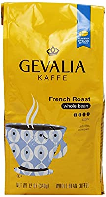 Gevalia French Roast and Ground Whole Bean Coffee, 12 Oz