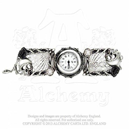 Alchemy Gothic ROSE GARDEN AW.10 Pewter-Orologio da donna
