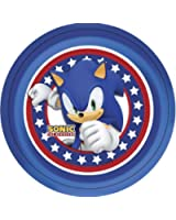 Sonic Plates (Pack 8) for Disposable Party Tableware