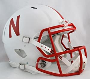 Buy NCAA Riddell Nebraska Cornhuskers Revolution Speed Full-Size Authentic Football Helmet by Riddell