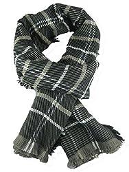 Honour Fashion Unisex Soft Stripe Two-Sided Wrap Scarf Black Onesize