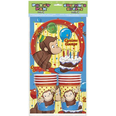 Read About Curious George Party Pack for 8