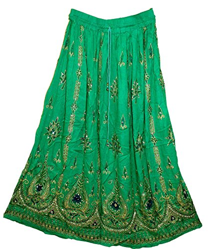 jnb-rayon-wrinkle-skirt-indian-aqn-rock-gypsy-kjol-jupe-retro-boho-falda-women
