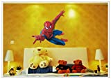 LUCIA Kids Room Spiderman Vinyl PVC Study Table or Bedroom wall stickers