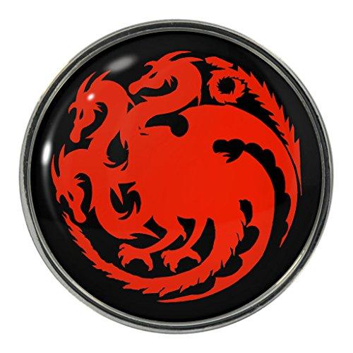 Rosso fuoco Spilla in metallo a forma di drago